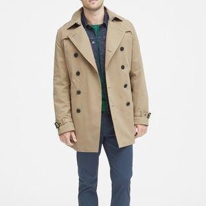 BR Men's Beige Tan Rain Jacket / Trench Coat